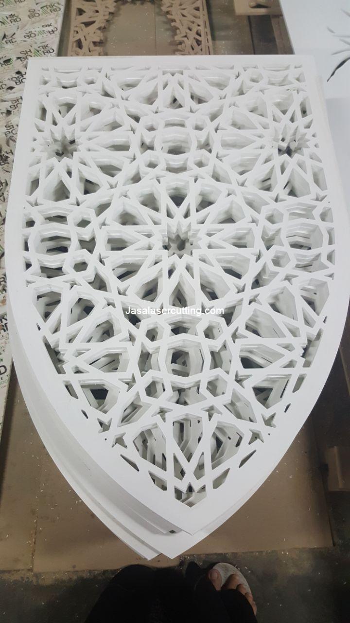 Jasa laser cutting PVC