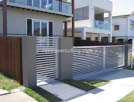 Model Pagar Rumah Minimalis Warna Putih  8 pagar rumah minimalis recomended jasa laser cutting